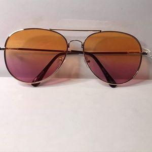Orange/Purple Gradient Lens Aviator Sunglasse